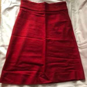 Bergdorf Goodman Red Skirt